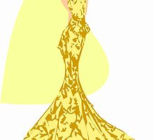 Fashion -yellow lace gown (7072 Views) by aldona