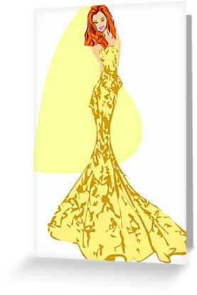 Fashion -yellow lace gown (6057 Views) by aldona