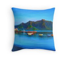 Kaneohe Bay - early morn Throw Pillow