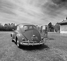 1960 VW Volkswagen Beetle at Old Gas Pumps by Tim Oliver Photography