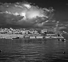 Valletta Wharf Mono by Edwin  Catania
