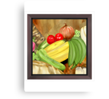 Green Plantain Creole Soup Canvas Print