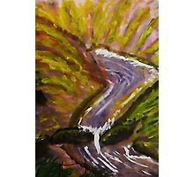 Flash flood in canyon, watercolor Photographic Print