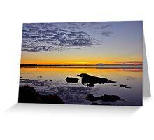 Coastal Sunrise. (21-5-11) Greeting Card