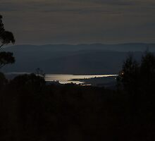 Our valley last night , by moonlight 2 by Ron Co
