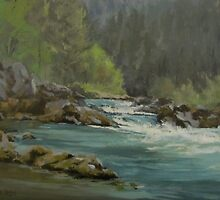 Oregon River Paintings by Karen Ilari by Karen Ilari