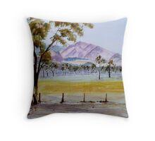 Grampians Watercolour Throw Pillow