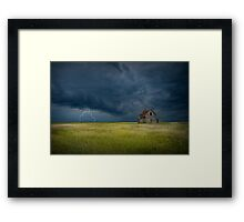 Thunderstorm on the Prairie Framed Print