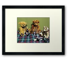 If only we had fingers instead of paws! Framed Print