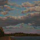 Landscape Painting - View Along The Great River Road - Oil 18 X 24 by Daniel Fishback