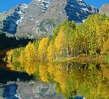 Maroon Bells by Beverly Lussier