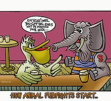 Animal Bar Fights by NHR CARTOONS .