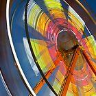Red hot ferris wheel... by WilliamJPhoto