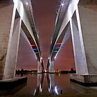 Twin Bridges - Brisbane City Qld by Beth  Wode