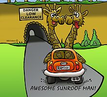 Giraffe cruize, by NHR CARTOONS .