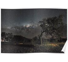 Galactic View from Planet Earth Poster