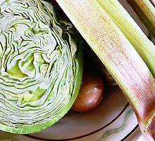 Still Life with Cabbage and Rhubarb by HeklaHekla