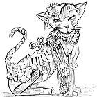 Steampunk Cat by Jessica Feinberg