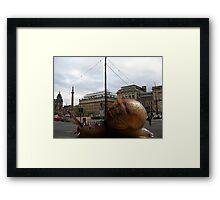 12 - SPEEDY THE SNAIL VISITS GLASGOW - DAVE EDWARDS - 2011 Framed Print