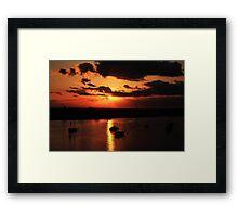Sunrise over San Carlos Island Framed Print