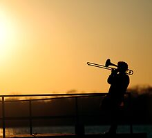 Riverside Jazzman by Kodaking