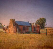 Lonesome - Derelict House - Murray Bridge to Mannum Road, SA,  by Mark Richards