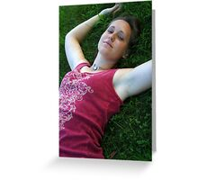Kate in the Grass Greeting Card