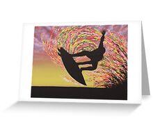 Grab Air Silhouette Greeting Card