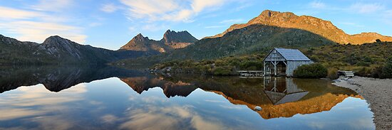 Dove Lake Boat Shed, Cradle Mountain, Australia by Michael Boniwell