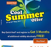 Quick Heal anti-virus cool summer offer by quickheal2012