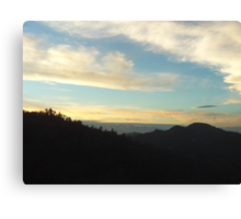 Clouds In The San Bernardino Mountains Canvas Print