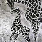 Giraffe  ~  Kameelperd  ~  Giraffa Camelopardalis by Pieta Pieterse