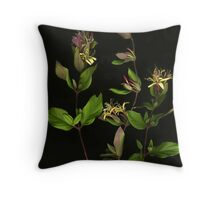 Pink Honeysuckle Throw Pillow