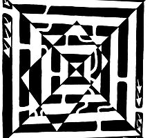 Monolith Optical Illusion Maze by Yonatan Frimer