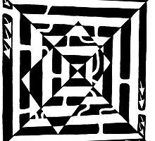 Monolith Optical Illusion Maze by Yonatan Frimer