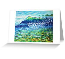 Dolphin Surf Greeting Card