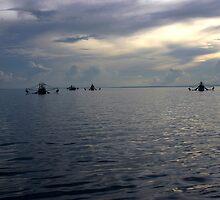 Prawn Boats under anchor (Cape York) by Scott Schrapel
