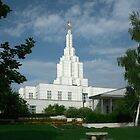 Idaho Falls Temple on a Summer Day 20x30 by Ken Fortie