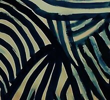 The  Revised Wild animal pattern #3 (zebra sorta), watercolor by Anna  Lewis