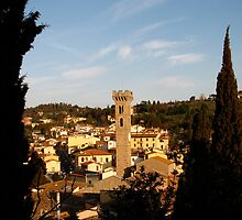 Heart of the Town - Fiesole, Italy by Britland Tracy