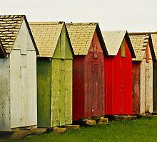 Colorful Sheds by Jena Ferguson