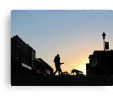 Tethered Walk At Sundown Canvas Print