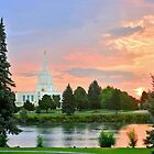 Idaho Falls Sunrise Reflection 20x24 by Ken Fortie