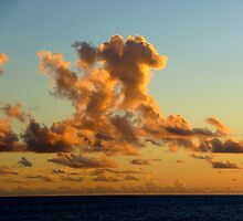 Bonus Day High Sunset Clouds by Keith Richardson