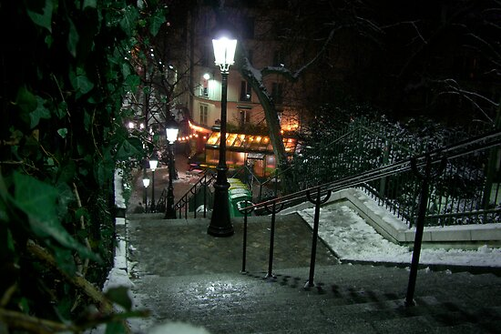 Rue Maurice Utrillo, Montmartre, Paris by Florian Gerus
