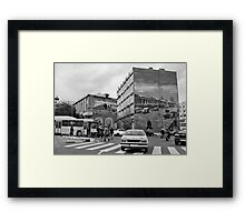 It Could Be Any Street In Any City In The World Framed Print