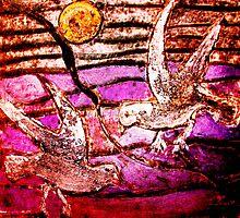 """Seagulls 1 by Belinda """"BillyLee"""" NYE (Printmaker)"""