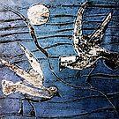 """Seagulls 3 by Belinda """"BillyLee"""" NYE (Printmaker)"""