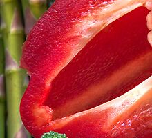 Red Pepper Abstract 6 by Orla Cahill Photography