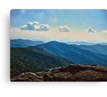 Blue Ridge Mountain - Outlook Canvas Print